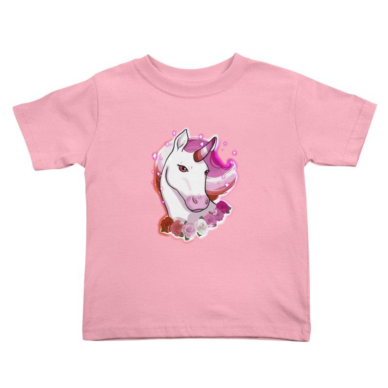 Lesbian pride unicorn Kids Toddler T-Shirt by AnimeGravy