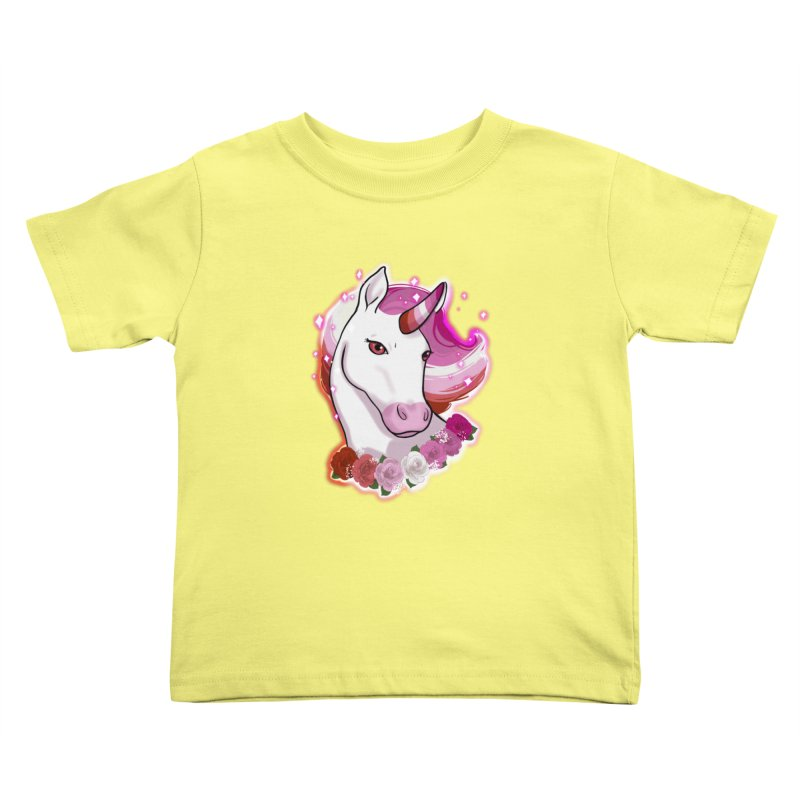Lesbian pride unicorn Kids Toddler T-Shirt by Animegravy's Artist Shop