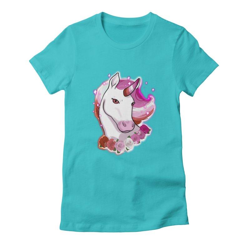 Lesbian pride unicorn Women's T-Shirt by AnimeGravy