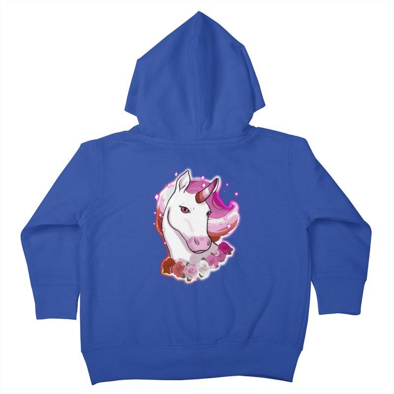 Lesbian pride unicorn Kids Toddler Zip-Up Hoody by Animegravy's Artist Shop