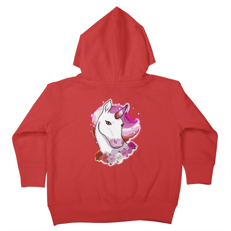 Lesbian pride unicorn Kids Toddler Zip-Up Hoody by AnimeGravy