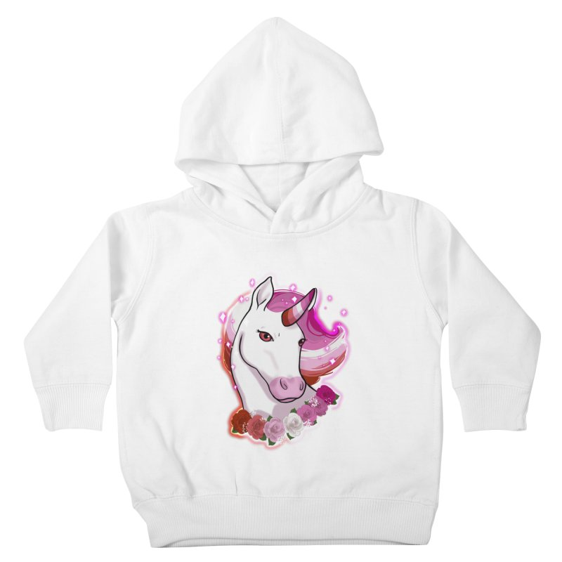 Lesbian pride unicorn Kids Toddler Pullover Hoody by AnimeGravy