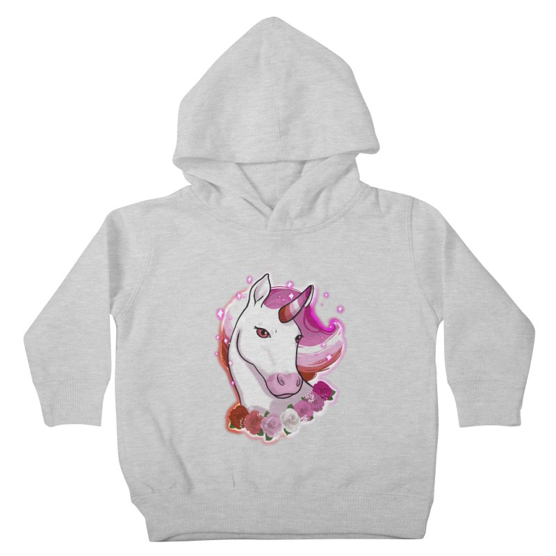 Lesbian pride unicorn Kids Toddler Pullover Hoody by AnimeGravy
