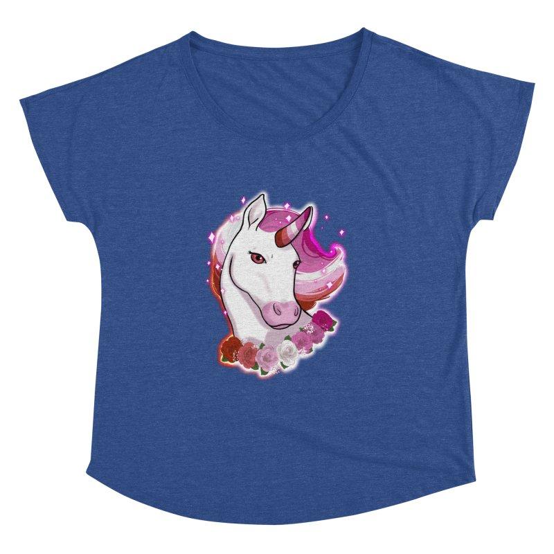 Lesbian pride unicorn Women's Dolman Scoop Neck by AnimeGravy
