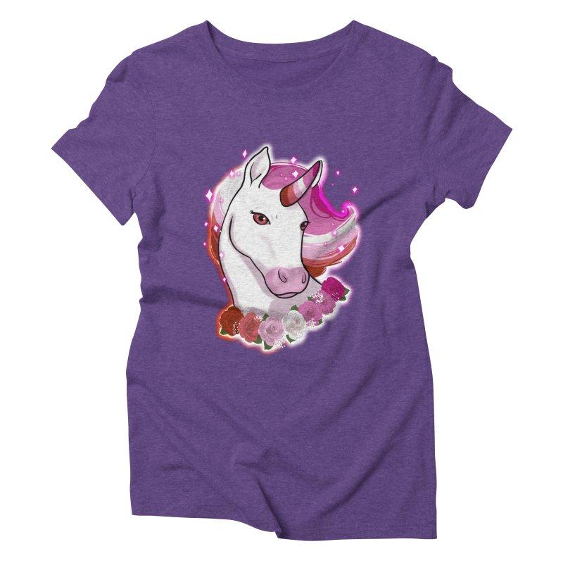 Lesbian pride unicorn Women's Triblend T-Shirt by AnimeGravy