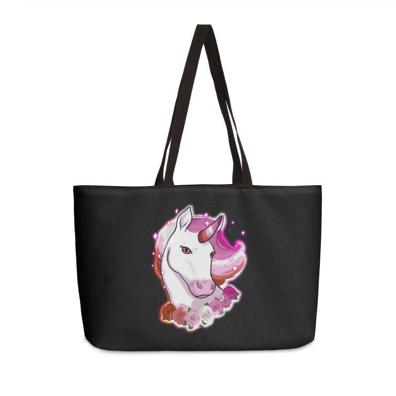Lesbian pride unicorn Accessories Weekender Bag Bag by AnimeGravy