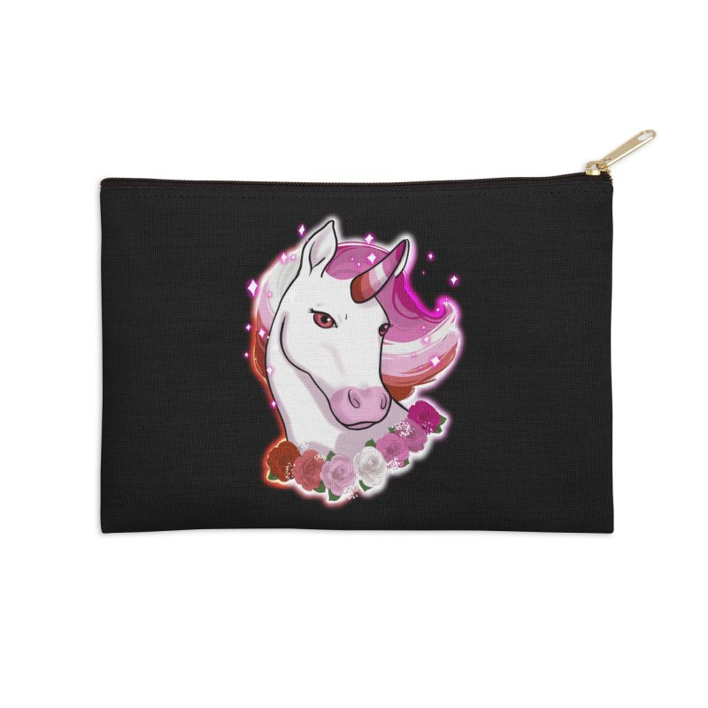 Lesbian pride unicorn Accessories Zip Pouch by AnimeGravy