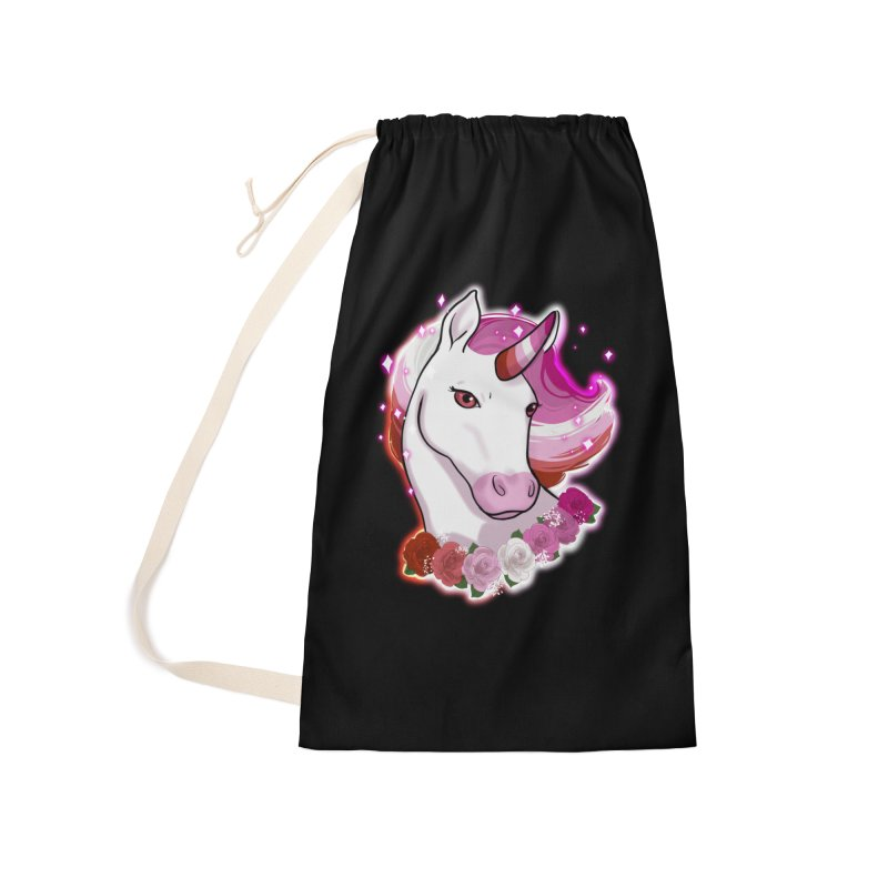 Lesbian pride unicorn Accessories Laundry Bag Bag by AnimeGravy