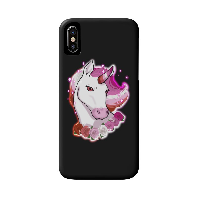 Lesbian pride unicorn Accessories Phone Case by AnimeGravy