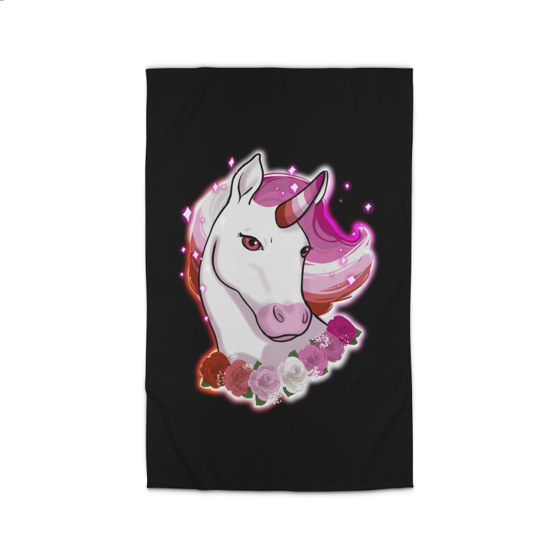 Lesbian pride unicorn Home Rug by Animegravy's Artist Shop