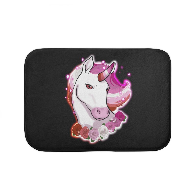 Lesbian pride unicorn Home Bath Mat by AnimeGravy