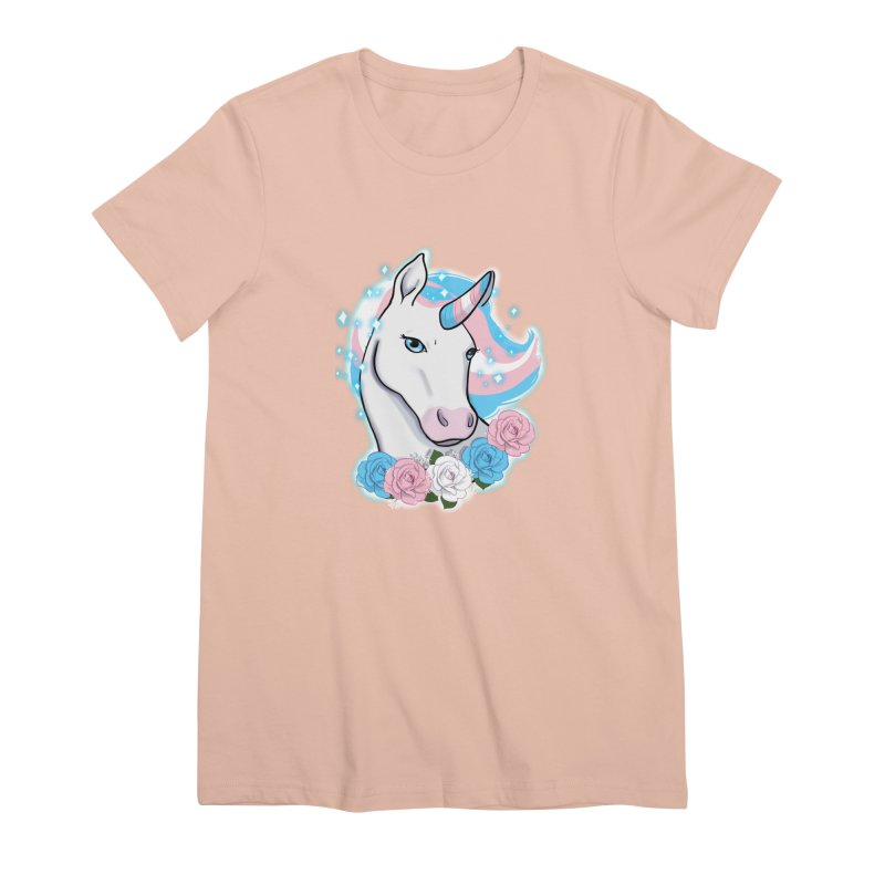 Trans pride unicorn Women's Premium T-Shirt by AnimeGravy