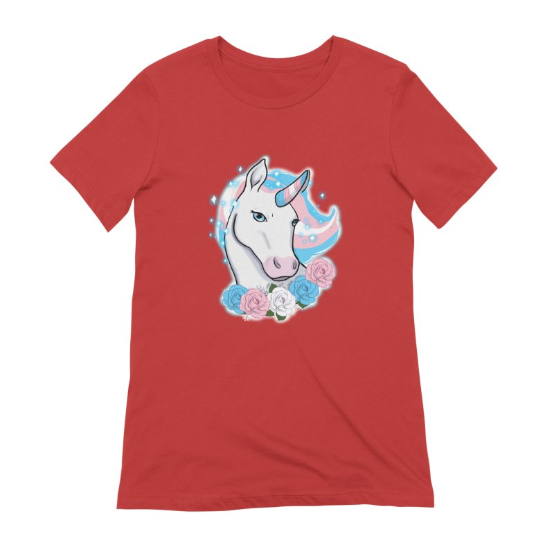 Trans pride unicorn Women's Extra Soft T-Shirt by Animegravy's Artist Shop