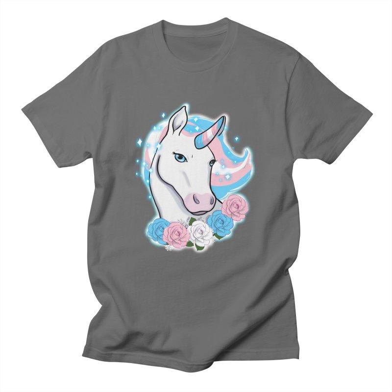 Trans pride unicorn Men's T-Shirt by AnimeGravy