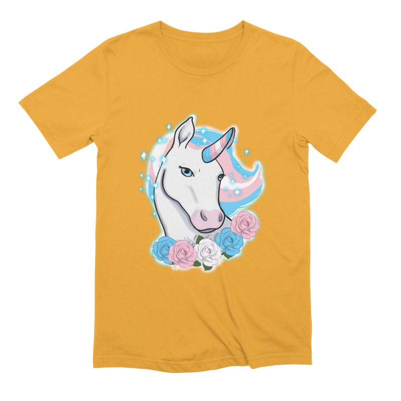 Trans pride unicorn Men's Extra Soft T-Shirt by Animegravy's Artist Shop