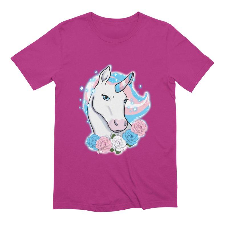Trans pride unicorn Men's Extra Soft T-Shirt by AnimeGravy