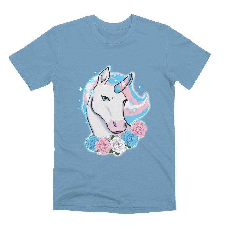 Trans pride unicorn Men's Premium T-Shirt by AnimeGravy