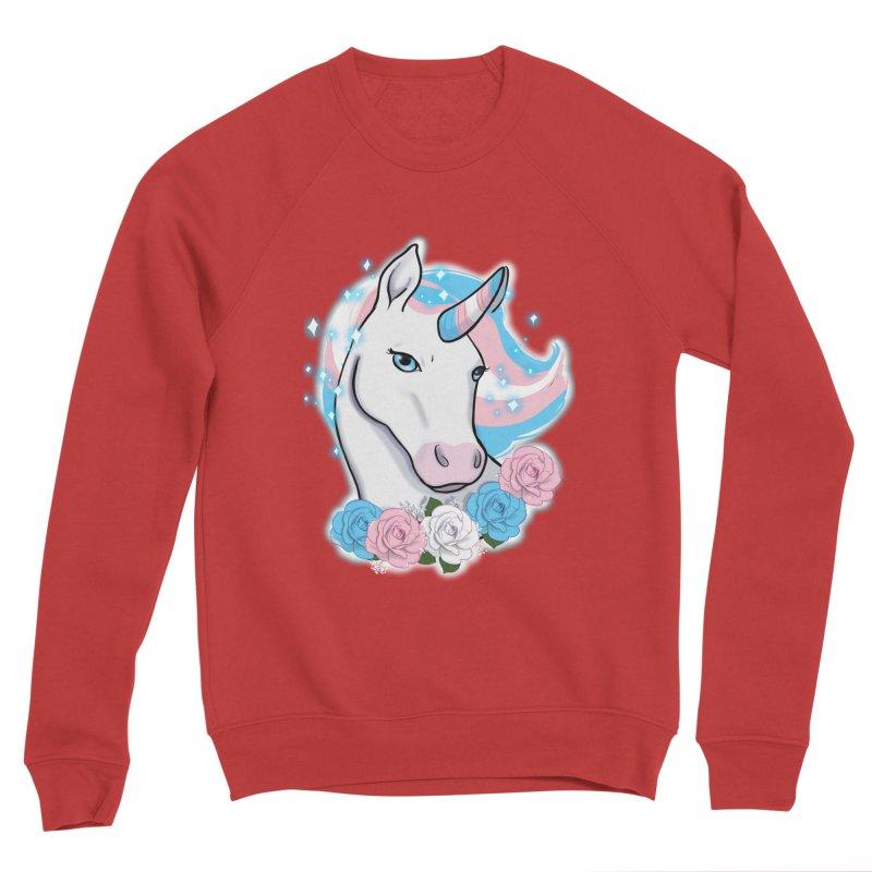 Trans pride unicorn Men's Sponge Fleece Sweatshirt by Animegravy's Artist Shop
