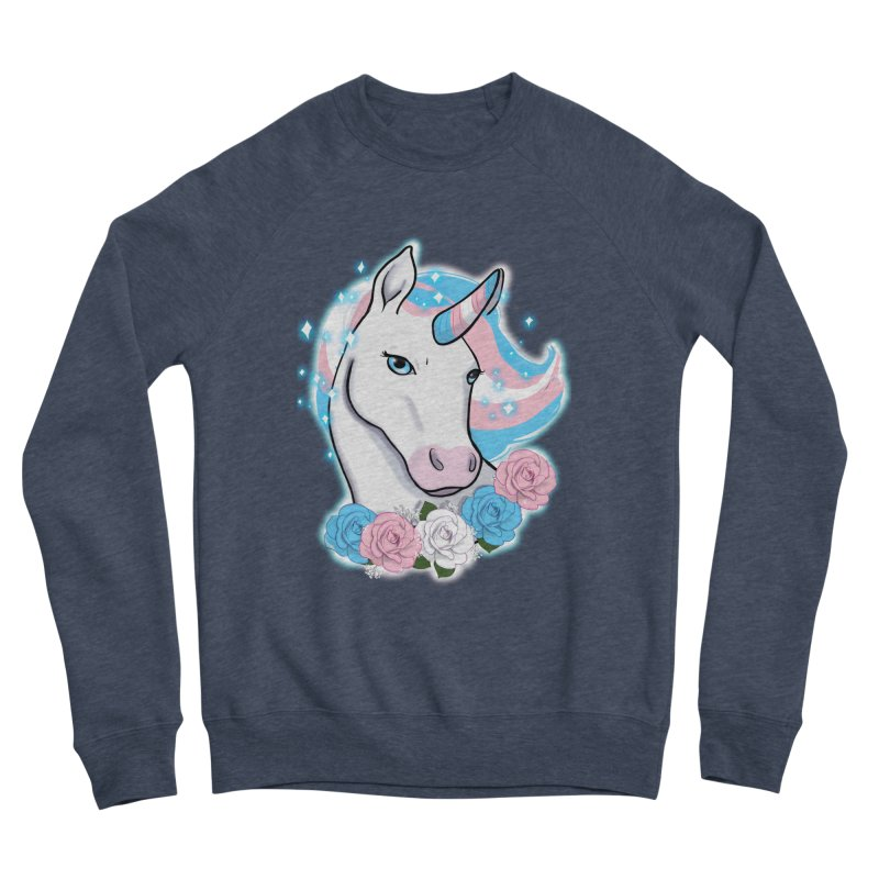 Trans pride unicorn Men's Sponge Fleece Sweatshirt by AnimeGravy