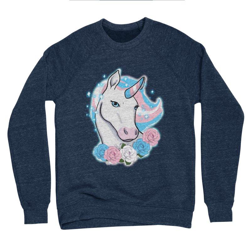 Trans pride unicorn Women's Sponge Fleece Sweatshirt by AnimeGravy