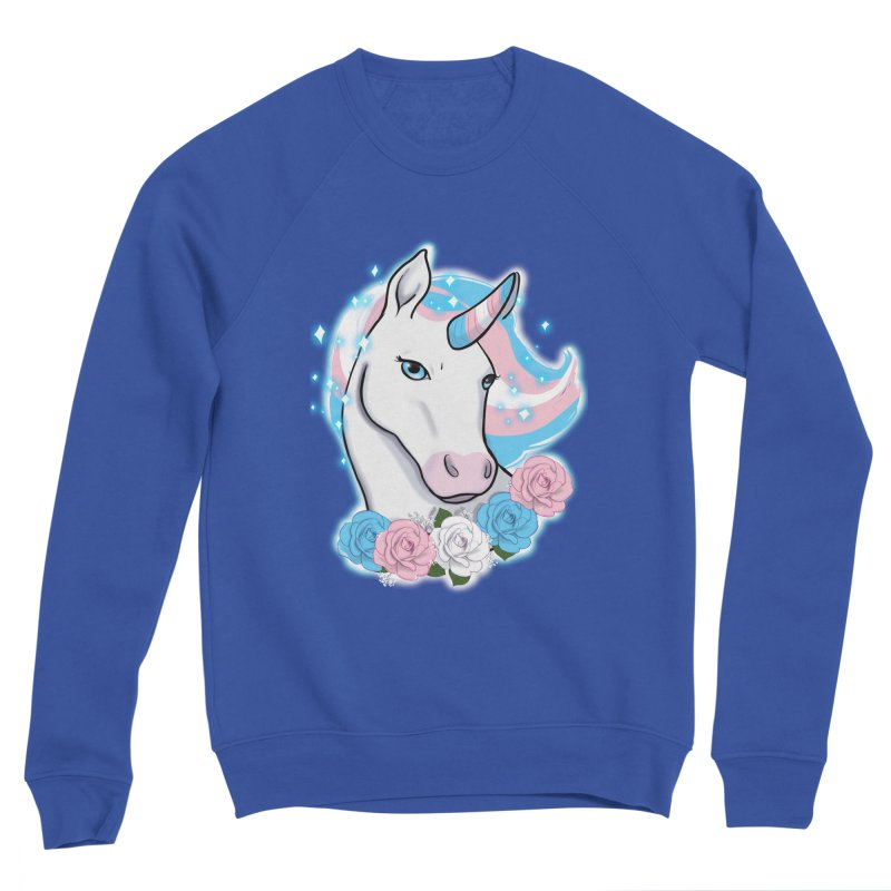Trans pride unicorn Men's Sponge Fleece Sweatshirt by AnimeGravy