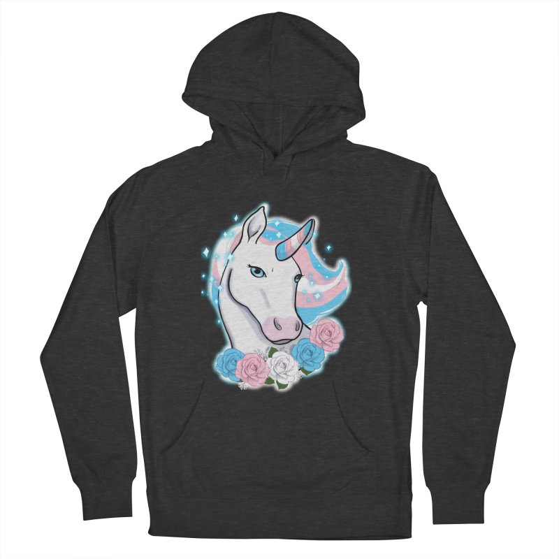 Trans pride unicorn Men's French Terry Pullover Hoody by AnimeGravy