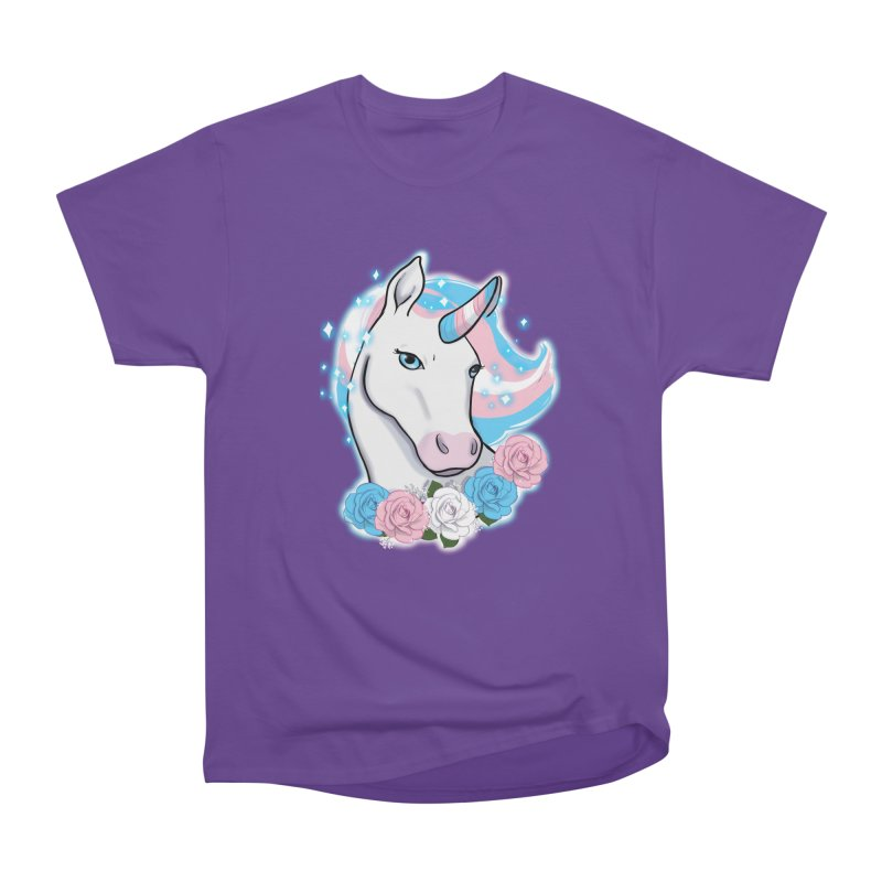 Trans pride unicorn Men's Heavyweight T-Shirt by AnimeGravy