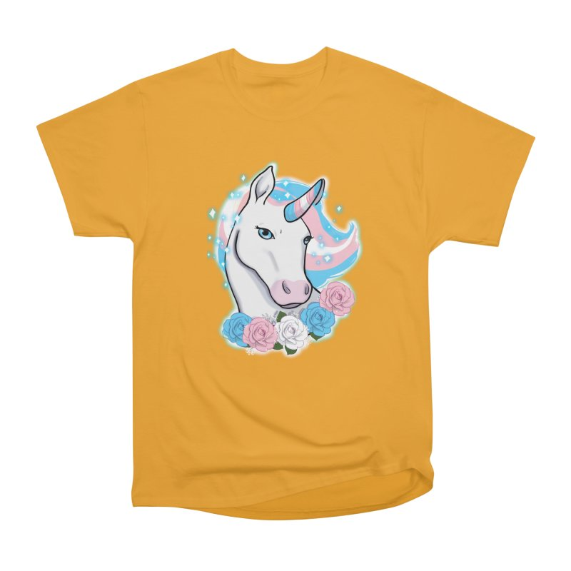 Trans pride unicorn Women's Heavyweight Unisex T-Shirt by Animegravy's Artist Shop