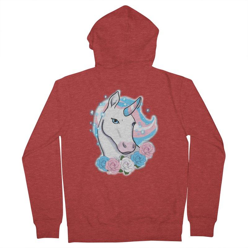 Trans pride unicorn Women's French Terry Zip-Up Hoody by AnimeGravy