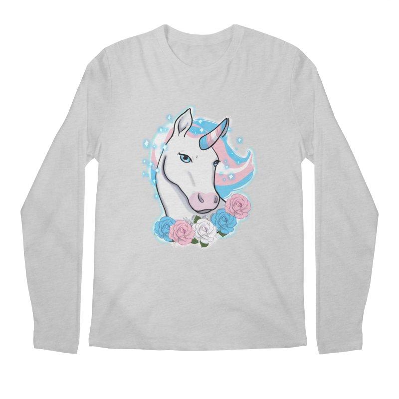 Trans pride unicorn Men's Regular Longsleeve T-Shirt by AnimeGravy