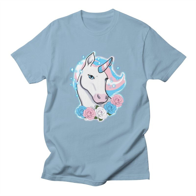 Trans pride unicorn Women's Regular Unisex T-Shirt by Animegravy's Artist Shop