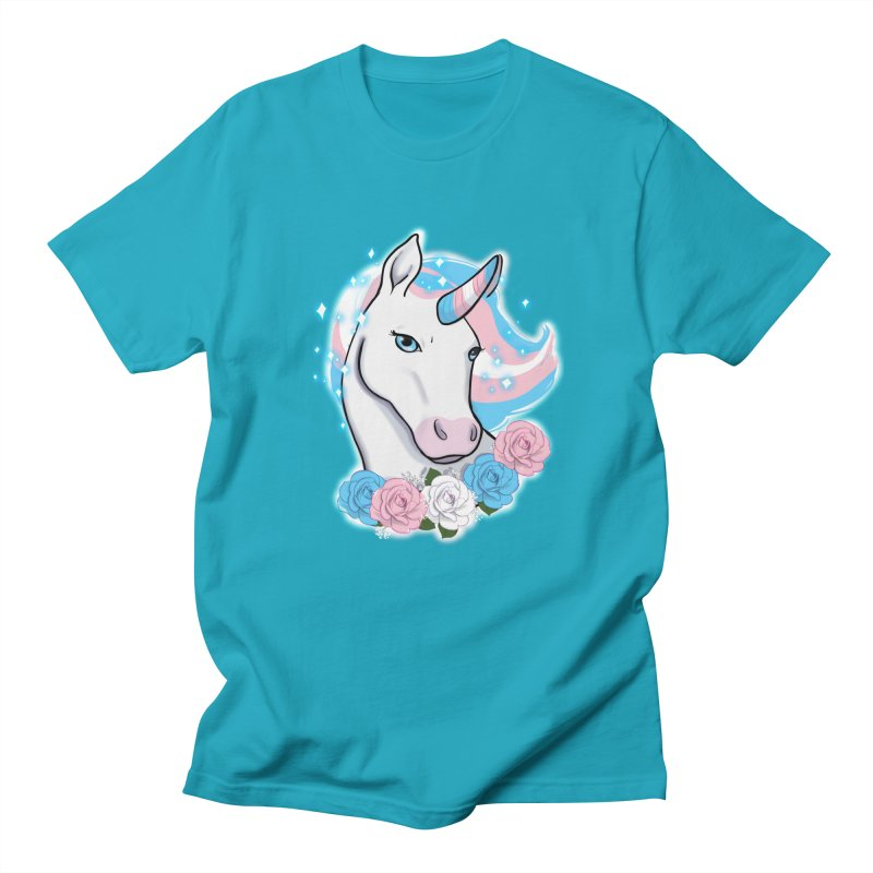 Trans pride unicorn Women's Regular Unisex T-Shirt by AnimeGravy