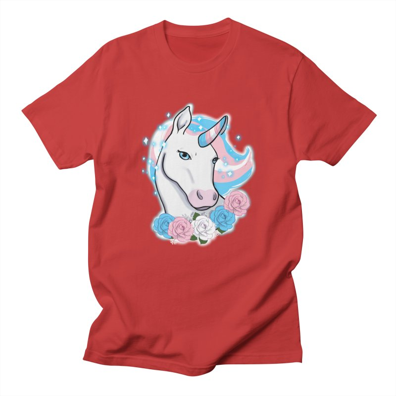 Trans pride unicorn Men's Regular T-Shirt by Animegravy's Artist Shop