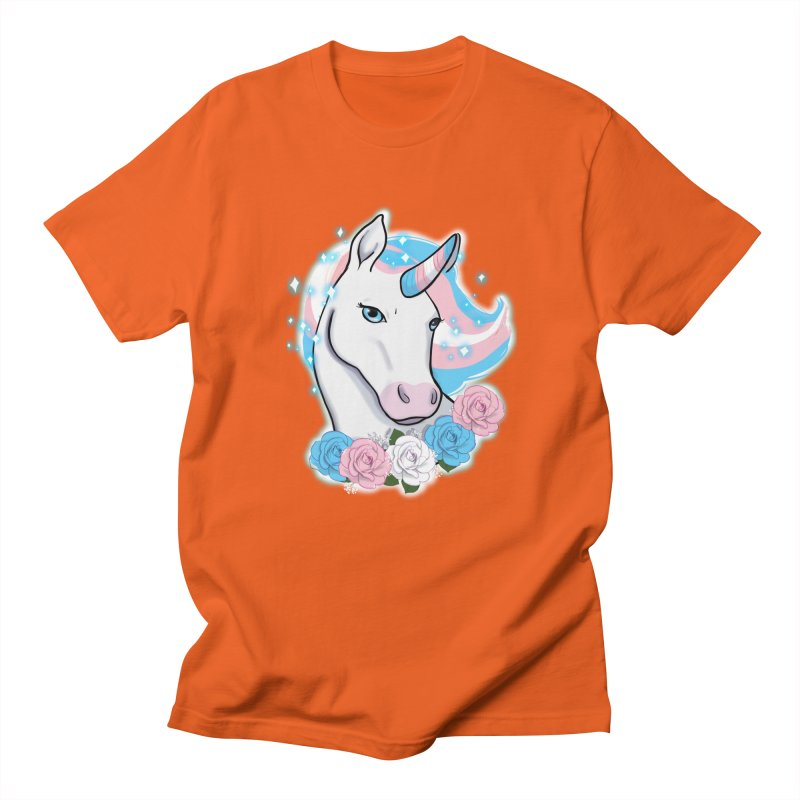 Trans pride unicorn Men's Regular T-Shirt by AnimeGravy