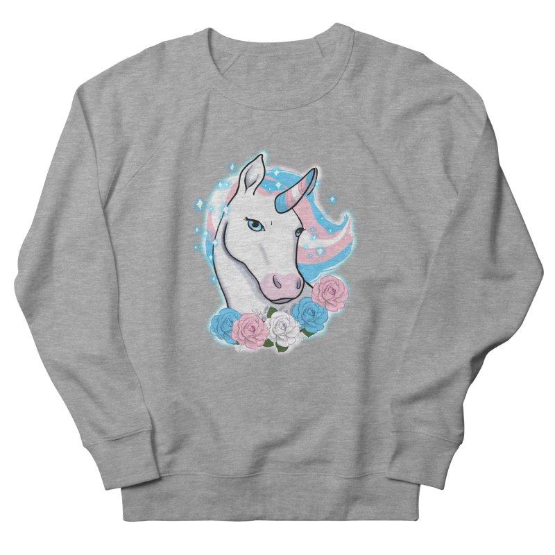 Trans pride unicorn Women's French Terry Sweatshirt by AnimeGravy