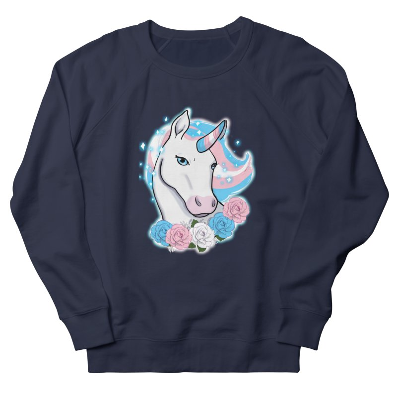 Trans pride unicorn Women's French Terry Sweatshirt by Animegravy's Artist Shop