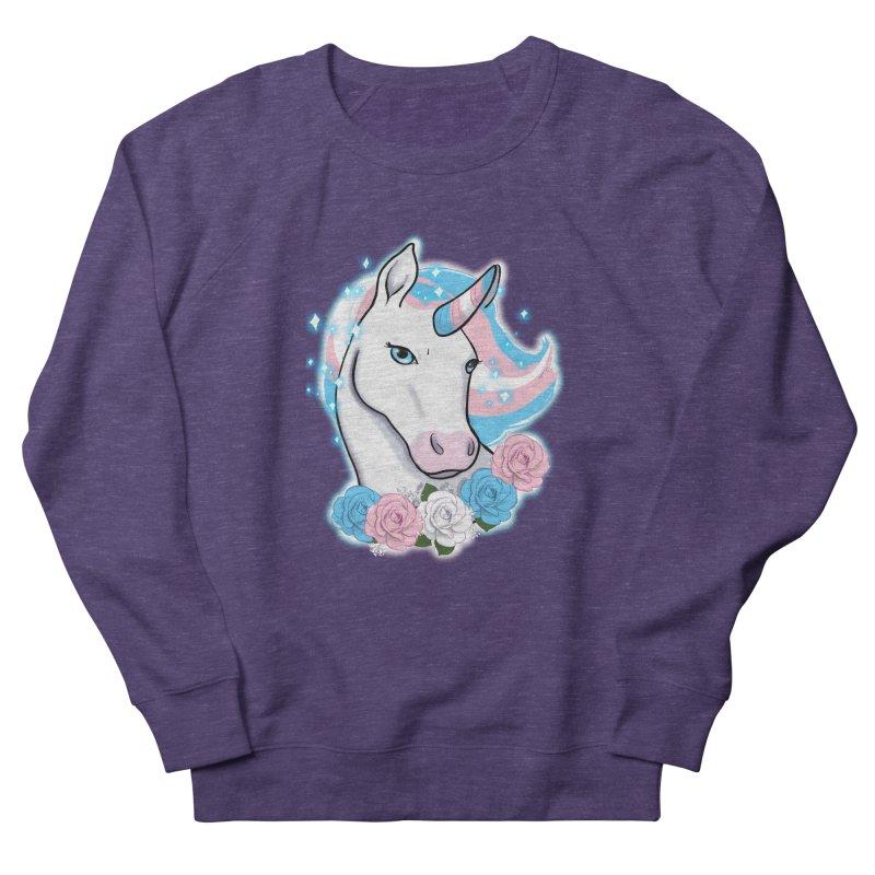 Trans pride unicorn Men's French Terry Sweatshirt by AnimeGravy