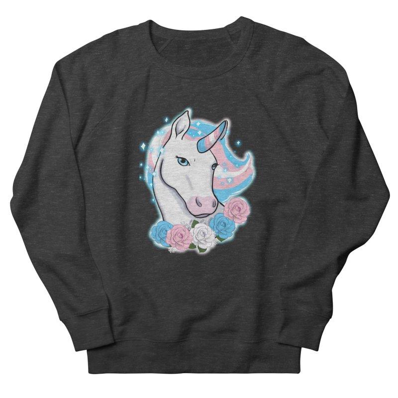 Trans pride unicorn Men's French Terry Sweatshirt by Animegravy's Artist Shop