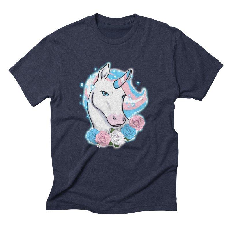 Trans pride unicorn Men's Triblend T-Shirt by AnimeGravy