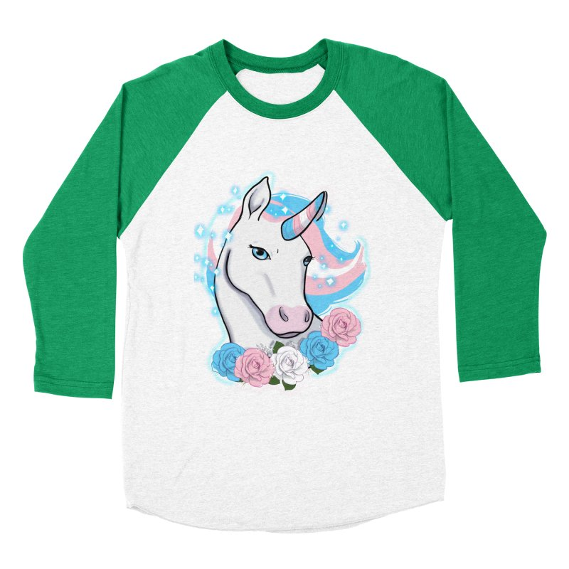 Trans pride unicorn Men's Baseball Triblend Longsleeve T-Shirt by AnimeGravy