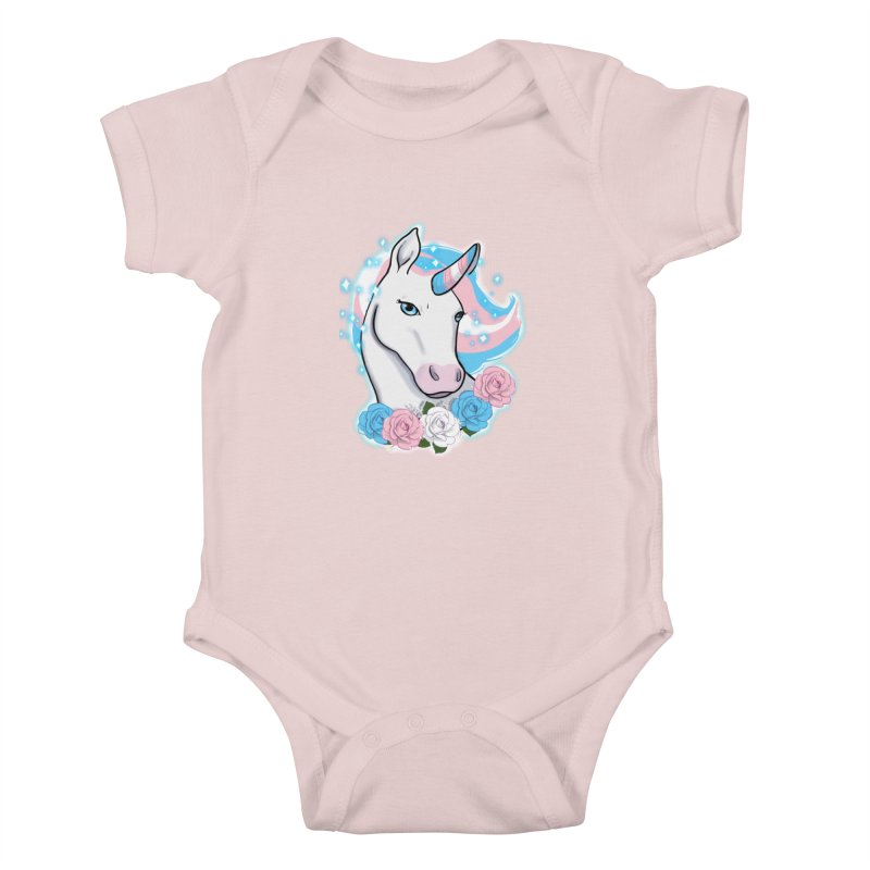 Trans pride unicorn Kids Baby Bodysuit by Animegravy's Artist Shop
