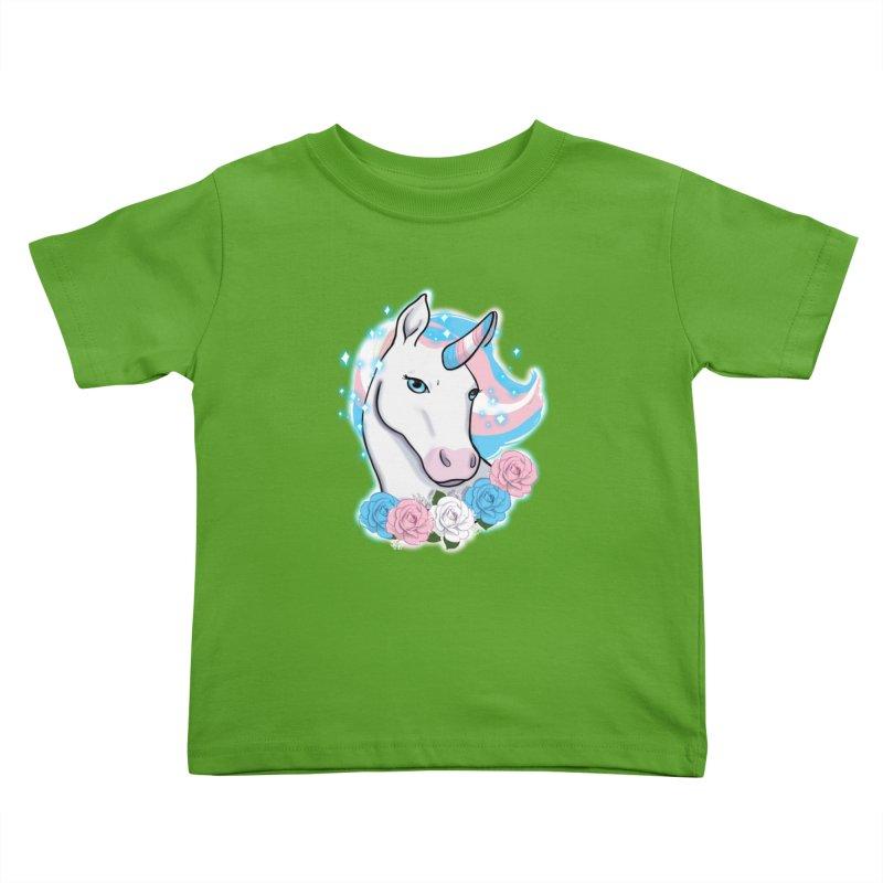 Trans pride unicorn Kids Toddler T-Shirt by AnimeGravy