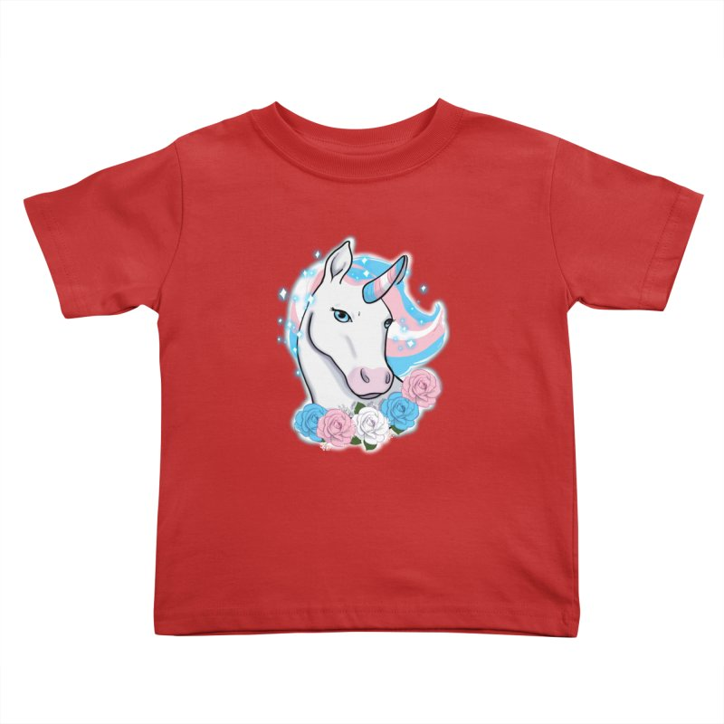 Trans pride unicorn Kids Toddler T-Shirt by AnimeGravy