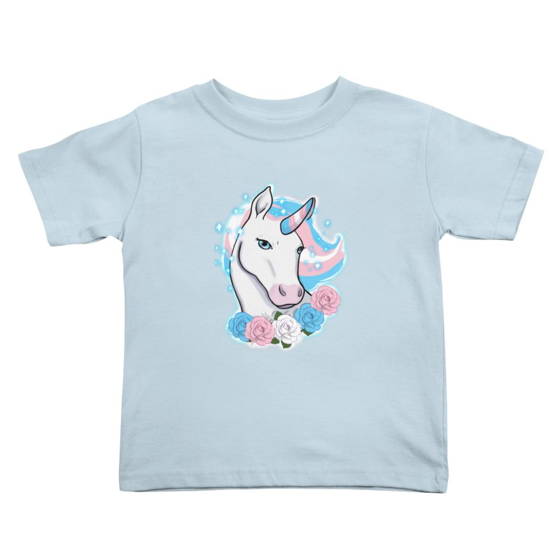 Trans pride unicorn Kids Toddler T-Shirt by Animegravy's Artist Shop