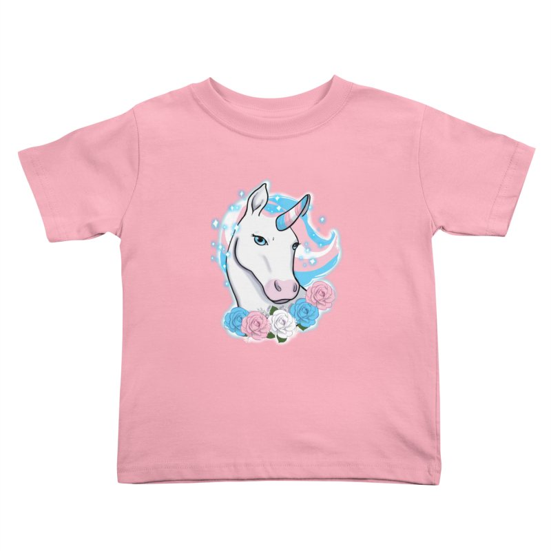 Trans pride unicorn Kids Toddler T-Shirt by Animegravy's Artist Shop