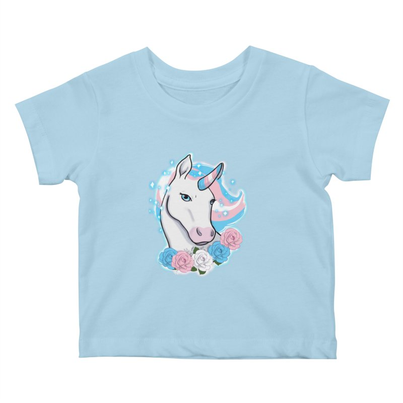 Trans pride unicorn Kids Baby T-Shirt by AnimeGravy