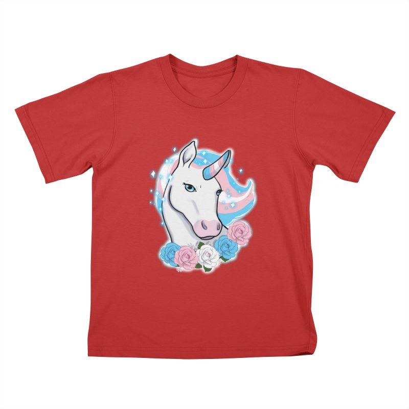 Trans pride unicorn Kids T-Shirt by Animegravy's Artist Shop