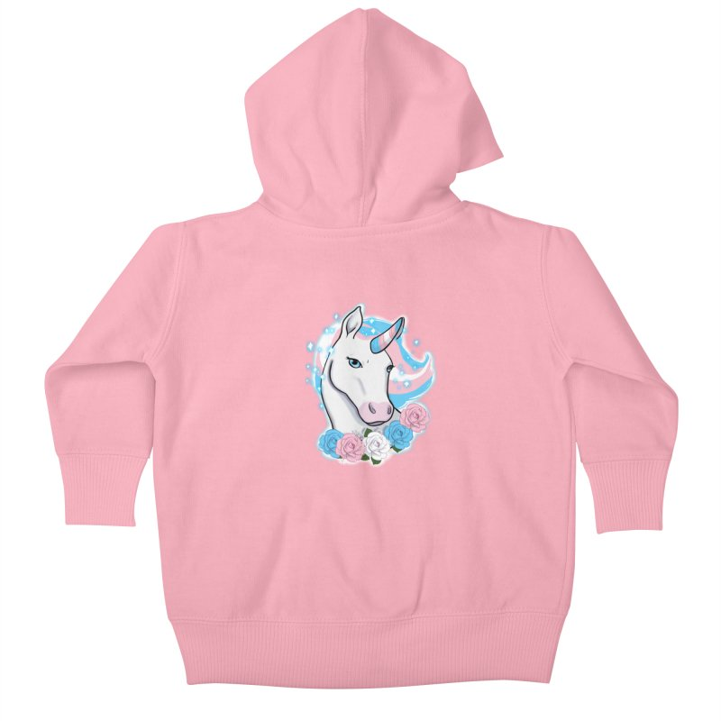 Trans pride unicorn Kids Baby Zip-Up Hoody by AnimeGravy