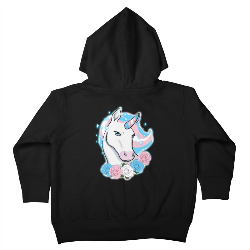 Trans pride unicorn Kids Toddler Zip-Up Hoody by AnimeGravy