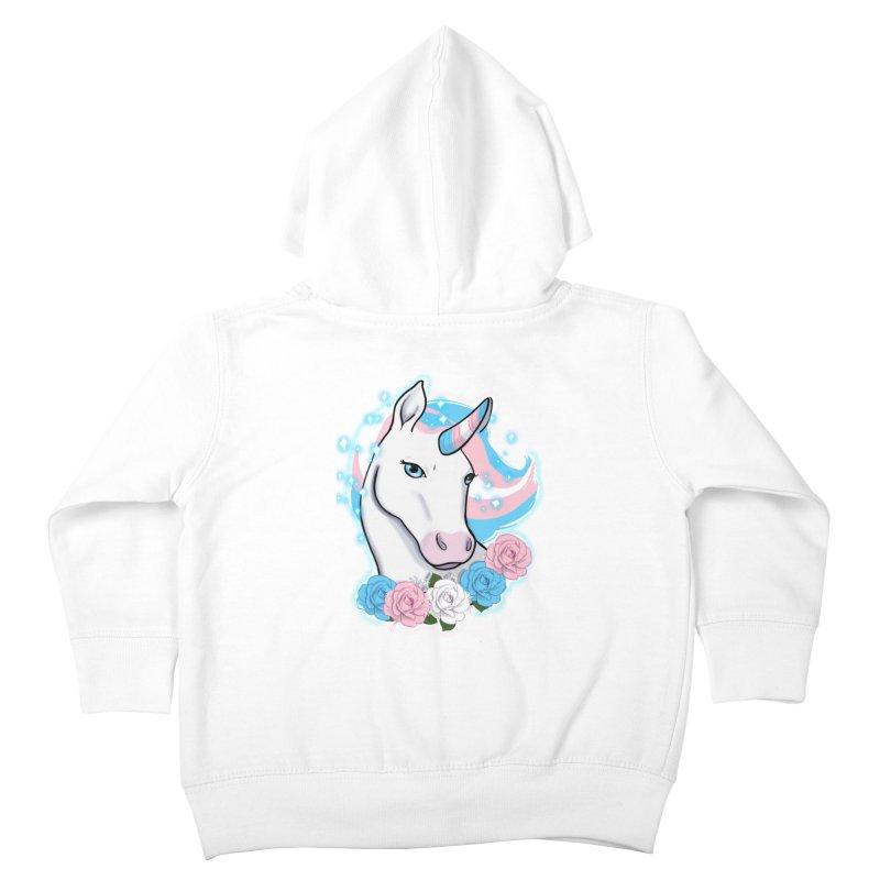 Trans pride unicorn Kids Toddler Zip-Up Hoody by AnimeGravy